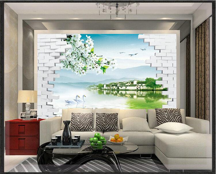 Interior wall art 2d 3d 4d wall art painting designs for 2d room design